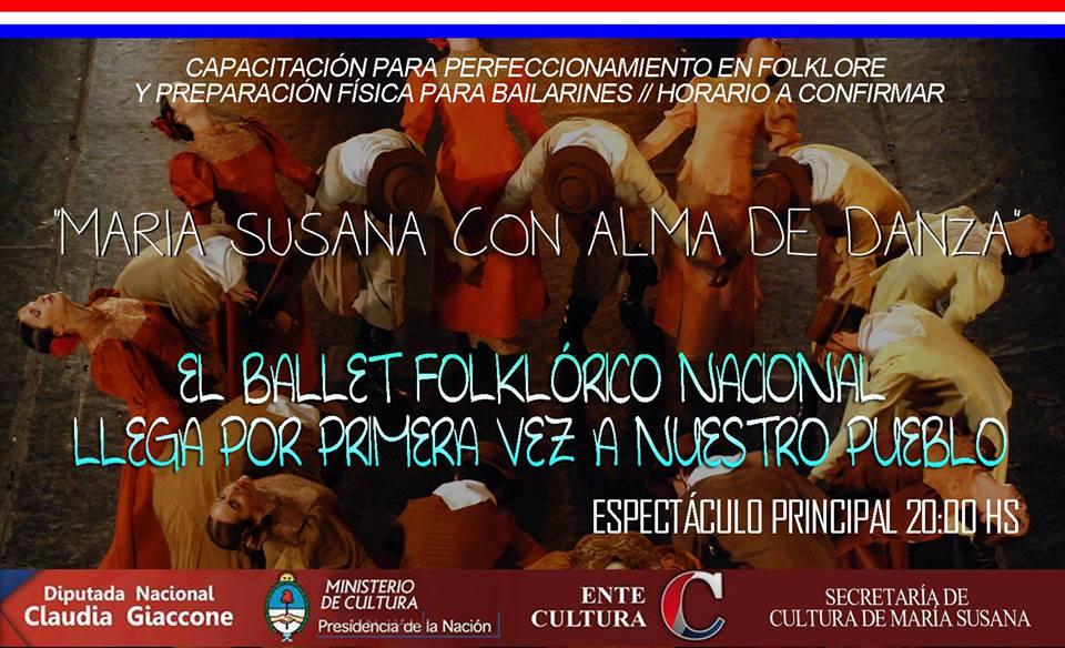 El Ballet Folclórico Nacional se presenta en María Susana